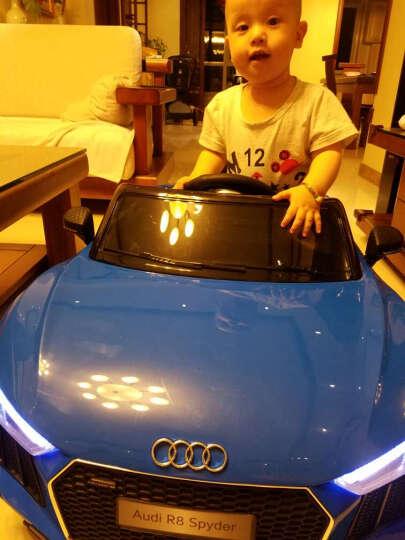 贝瑞佳(BeRica) 奥迪R8儿童电动车四轮遥控宝宝玩具电动跑车小孩可坐人带摇摆汽车 全功能+发泡软轮胎(车子颜色咚咚留言) 晒单图