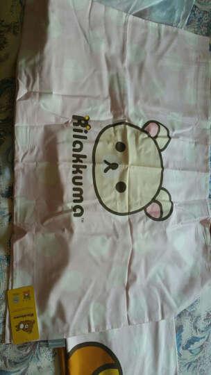 LOVO家纺 罗莱生活出品床上四件套全棉床品卡通床品套件 轻松小熊系列 小淘气 1.2米床(被套150x215cm) 晒单图