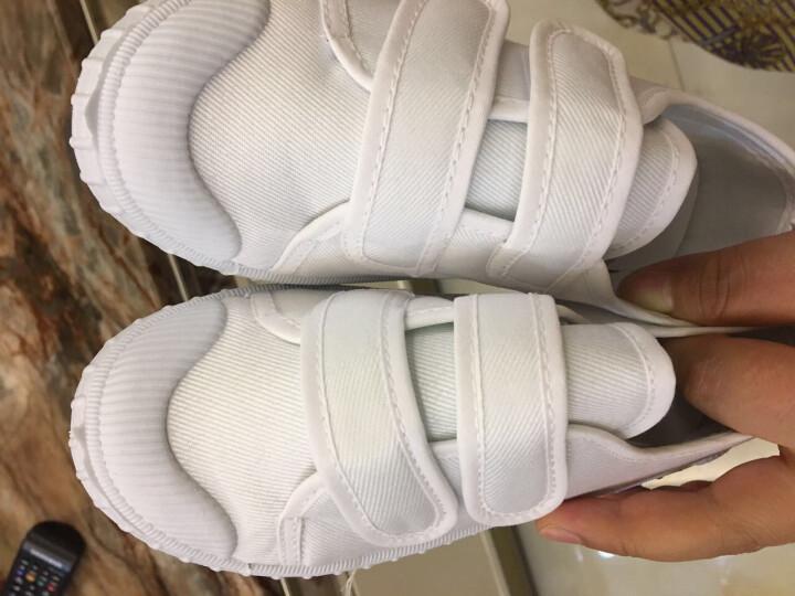 素肌棉儿童小白鞋男女童白鞋儿童白色舞蹈鞋学校运动鞋男孩女孩学生小白鞋 款三 35(鞋垫长约22.0cm) 晒单图
