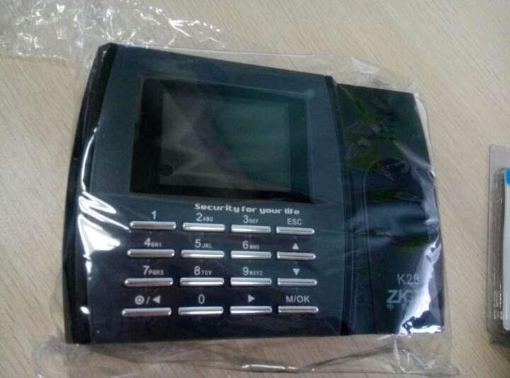 中控智慧(ZKTeco)K28指纹式考勤机指纹识别打卡机上下班签到机U盘数据线 灰黑色 标配 晒单图