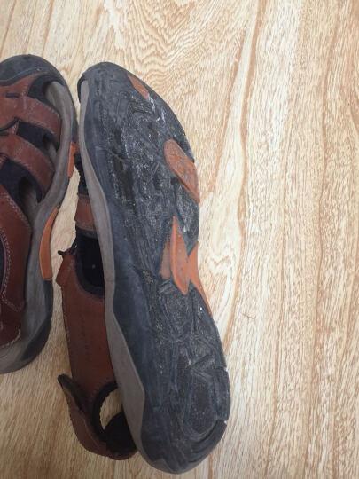 战地吉普(AFS JEEP)凉鞋男2017夏季新款休闲透气包头沙滩鞋户外男士凉鞋 A3944浅棕色 40 晒单图
