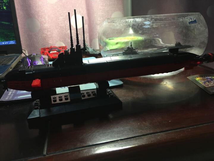 拼装军事航母模型船战舰军舰积木辽宁号驱逐舰巡洋舰兼容乐高 航空母舰模型装饰摆件 核潜艇 晒单图