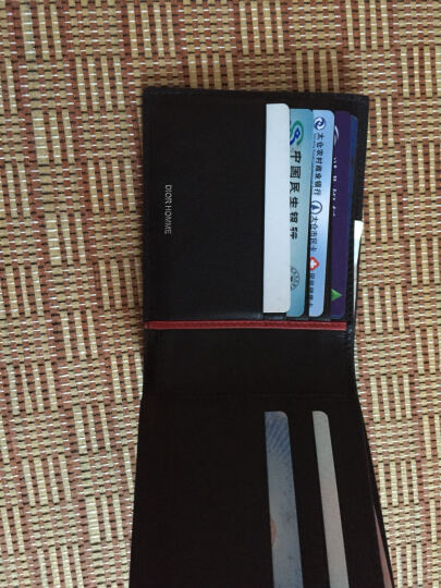 Dior 迪奥 男士黑底灰色字母图案涂层帆布短款钱包钱夹 2DEBH027XIS 02GU 晒单图