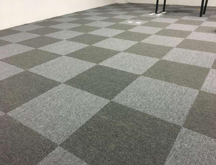 程帝沥青底工程办公室地毯卧室满铺简约现代写字楼防潮隔音台球室阻燃拼接方块地毯50*50cm/单片价 NO.20 50x50cm/片 晒单图