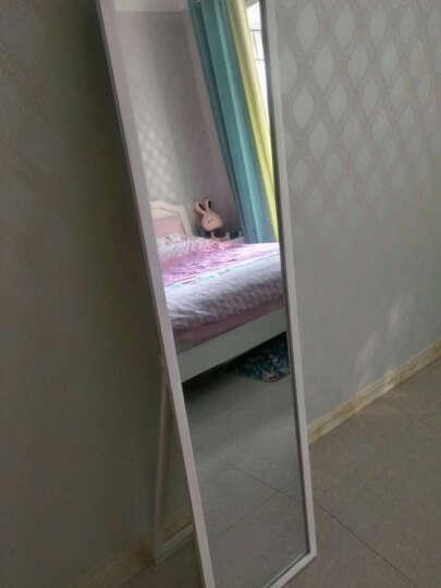 华恺之星 落地穿衣镜子 全身镜试衣镜 实木框化妆镜子 HK806清新白 晒单图