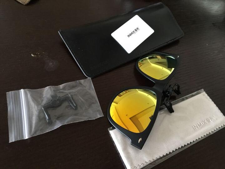 音米(INMIX)夜视墨镜夹片 近视眼镜夹片 近视眼镜夹片偏光男女款  5999 黑框桔片 晒单图