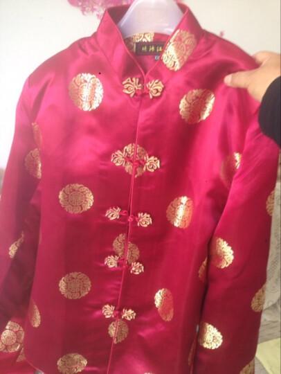 比尔丝 富贵民族风中式改良中老年爸妈情侣唐装外套 演出服装 过寿服 WNS/2383# -3黑色棉衣 男款M 晒单图