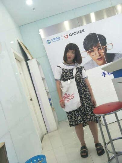 xzy韩国时尚潮女包拉链帆布包女单肩手提包学生书包购物环保袋秋 也无风黑单肩 晒单图