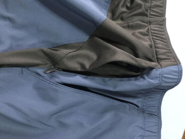 北面(The North Face) 推北面夏季舒适透气速干户外运动男短裤 2SMR HBT/蓝色 L 晒单图