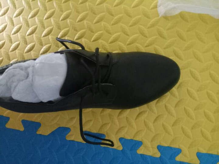 奥康女鞋   韩版系带踝靴 粗跟单鞋女休闲舒适中跟单鞋153121029 黑色153121029 38 晒单图
