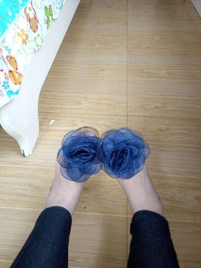 欧语伊依 夏季果冻套脚透明女凉鞋茶花蕾丝大花朵鱼嘴平底仿水晶鞋 XSF 蓝花 37 晒单图