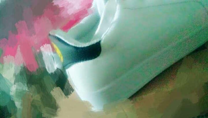 2017女鞋透气运动休闲鞋女小白鞋韩版板鞋春夏季学生潮流厚底松糕内增高鞋子女帆布鞋笑脸鞋 313款白绿色 38 晒单图