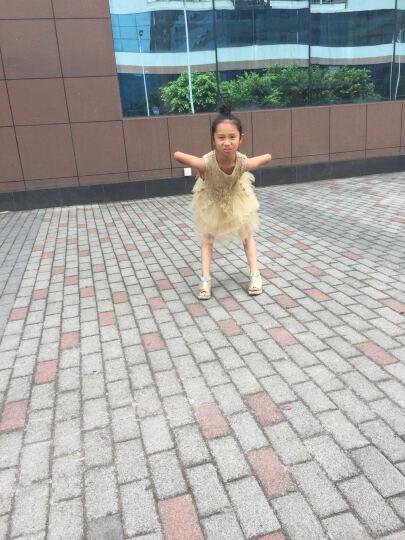 南极人(Nan Ji ren) 女童连衣裙夏儿童公主裙金丝镂空礼服裙蛋糕背心裙 金黄色 130码建议身高130cm 晒单图