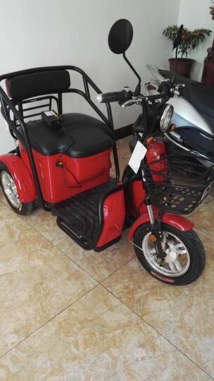 爱玛新款电动三轮车小玛AM1 高性能电控 真空轮胎 USB充电端口 无铅透明红/亚黑 晒单图