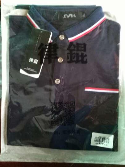 律錕男士短袖POLO衫时尚百搭纯色简约短袖T恤1689白色XL 晒单图