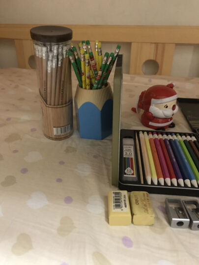 得力(deli)12色水溶性彩铅彩色铅笔秘密花园填色笔 按动式可换芯 铁盒装(附赠毛笔)6507 晒单图
