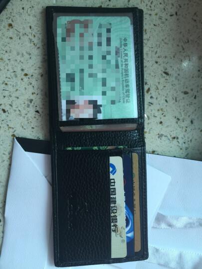 啄木鸟(TUCANO)男女士新款2019轻薄钱夹韩式头层牛皮银行卡名片夹驾驶证套软 黑色 晒单图