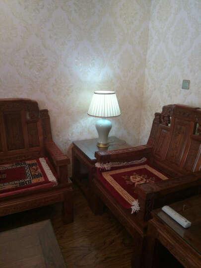 圣玛帝诺 全铜陶瓷台灯 卧室床头台灯景德镇现代简约创意装饰台灯 AV-1257冰裂陶瓷按钮 晒单图