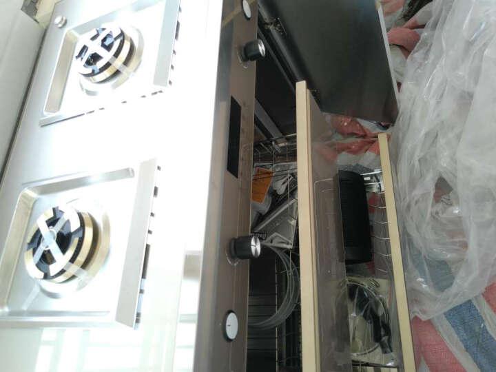 霸帝电(BADI)集成灶侧吸式油烟机燃气灶消毒柜漏气报警定时自动清洗智能多功能环保灶具套装 JG29 【黑色】定时+自动清洗+漏气报警+一体风道 天然气 晒单图
