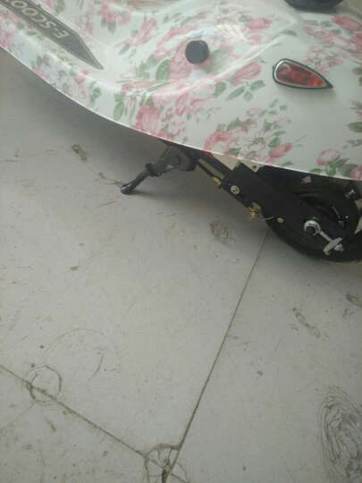 名萱(MINGXUAN) 小海豚女士迷你折叠车成人电瓶休闲车电动滑板车学生代步车 爬坡款:奶牛色 晒单图