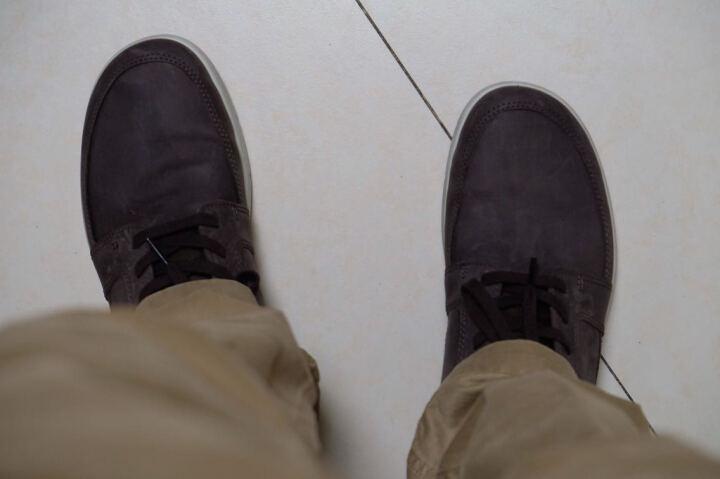 ECCO爱步 时尚简约运动休闲男鞋 透气舒适系带磨砂牛皮鞋 爱欧瓦532714 咖啡色/棕色50159 40 晒单图