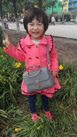 艾风尚包包2017春夏新款女包手提包大包韩版铆钉复古拼接包单肩斜挎小包 百搭灰 晒单图