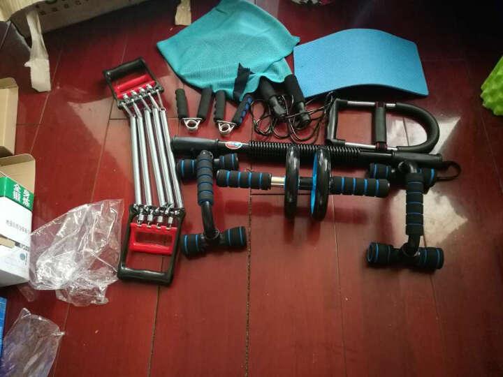 越康(yuekang) 健身套装 健身小器材健腹轮握力器 臂力棒 拉力器 俯卧支架家庭训练器 四件套入门级 晒单图