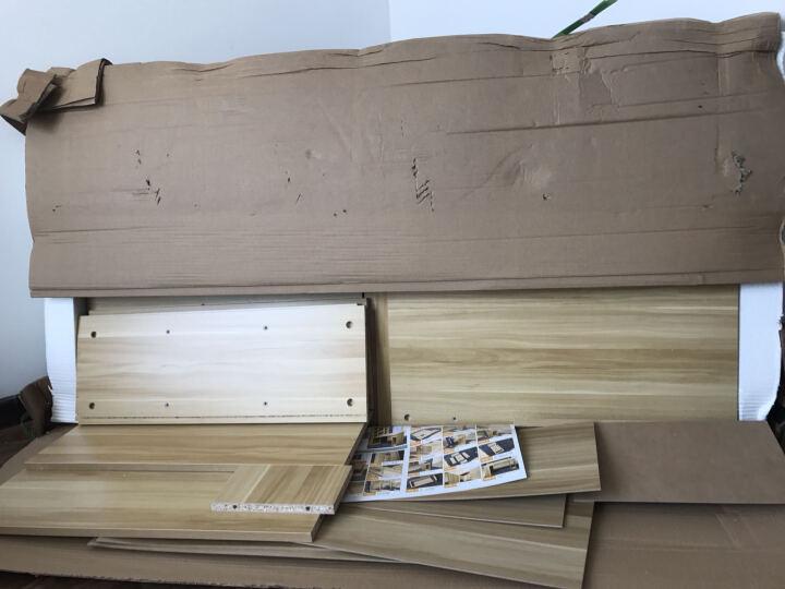 悠佳 电脑桌 台式转角书桌书柜组合 家用写字台 组合电脑桌加厚升级版(进口环保板材) 黑胡桃色 B型尺寸140X80cm 晒单图