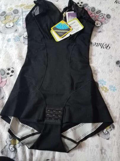 JANEFI新款产后塑身衣连体无痕束腰收腹女士瘦身衣 黑色 L 晒单图