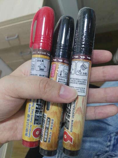 迅易金万年白板笔可擦水性笔墨水办公会议笔儿童涂鸦笔 单支 旋转后塞循环加墨白板笔G-0611 蓝色 晒单图