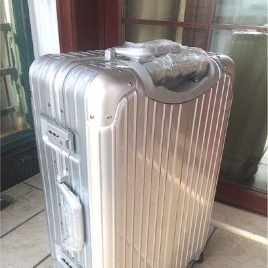 【轻奢轻韧 防刮铝框】铝框拉杆箱行李箱男士女士登机箱20寸24寸30寸28寸学生旅行箱密码行李箱 轻奢款 蓝色 20英寸丨登机箱 晒单图