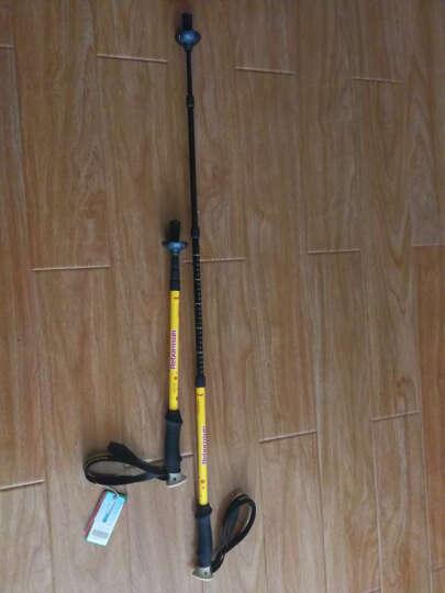 鲁滨逊 登山杖 碳纤维 四节内锁短轻新释然爬山徒步手杖伸缩拐杖 高碳素含量 新释然 荧光黄 晒单图