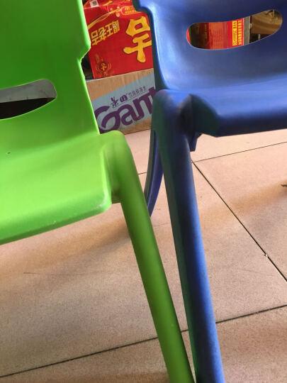 申永幼儿园桌椅 幼儿园椅子幼儿园椅子 塑料板凳子小靠背椅 大号绿色 晒单图