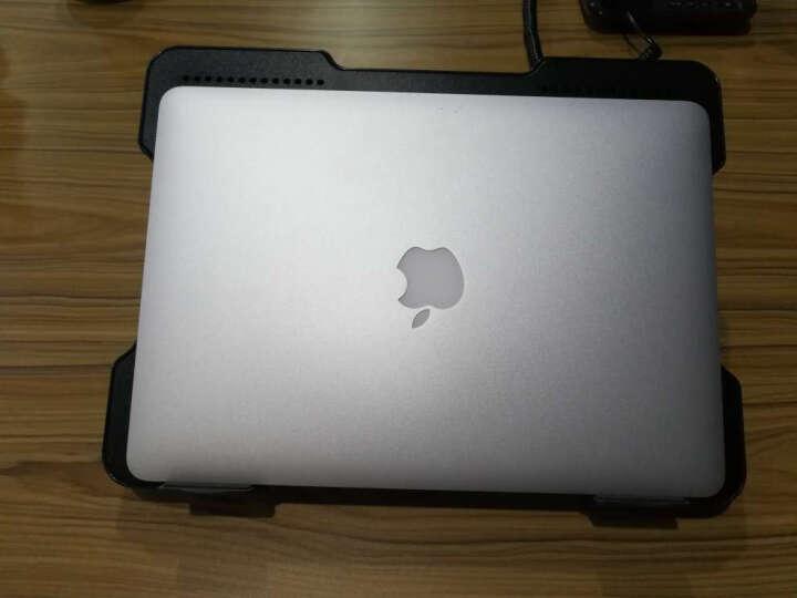 iDock 笔记本散热器 铝合金电脑散热风扇 散热支架 升降支架 14 15.6散热底座垫 经典黑 N10-3 (4个USB) 晒单图