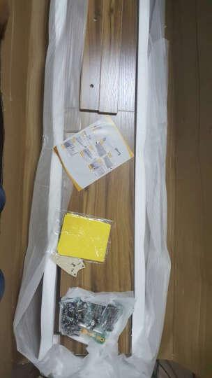 福岂善 书柜书架组合带门玻璃门文件柜客厅收纳储物柜落地家用简约现代壁柜办公家具学生柜子经济型时尚 黑胡桃 abc组合2米长 晒单图