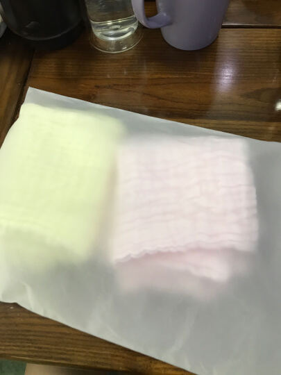 慕斯维(Natural)婴儿纱布浴巾纱布手帕 宝宝纯棉毛巾口水巾 毛巾(两条装) 晒单图