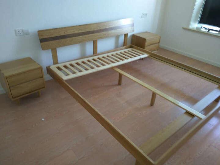 华谊(HUAYI)RS501-1800 日式风格白橡木 原木色1.8米床 晒单图