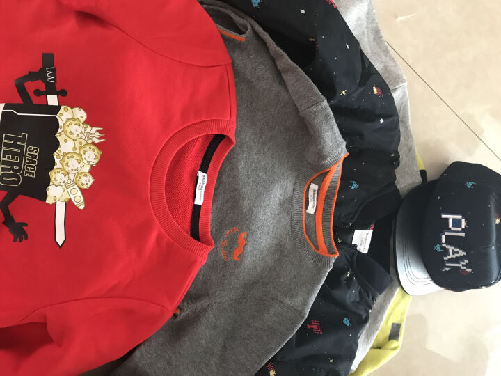 巴拉巴拉童装男童毛衣长袖小童宝宝线衣秋新款幼童针织衫 特深花灰 120 晒单图