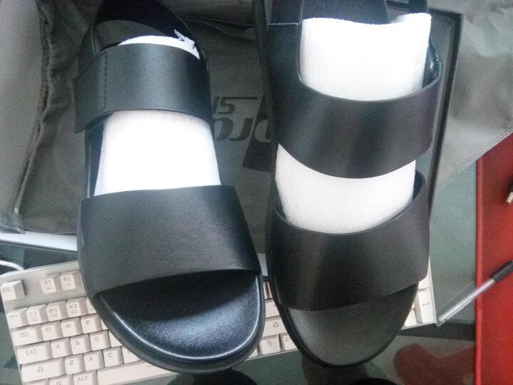 戈登羊2019夏季新款凉鞋男士牛皮休闲鞋沙滩鞋时尚拖鞋 17015卡其 41 晒单图
