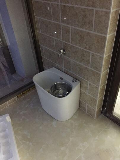 陶瓷小号拖把池阳台双驱动卫生间洗地拖盆墩布池家用拖布池槽 双驱动无带龙头孔 晒单图