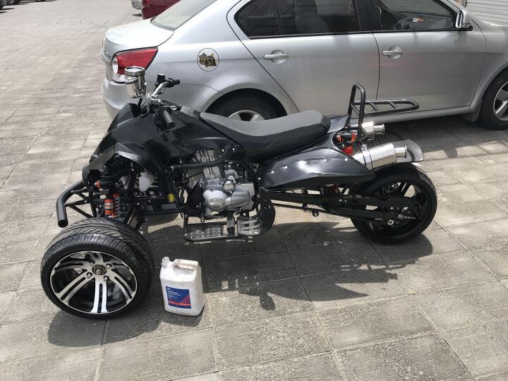至诺2018新款125-250倒三轮沙滩车8-14寸铝轮个性沙滩摩托车豪华跑车 套餐六 晒单图