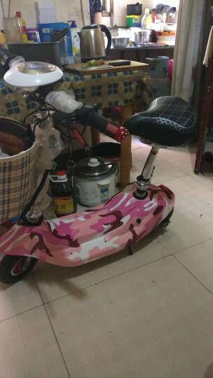 龙吟 女士迷你电动车 成人电动滑板车 小海豚电瓶车代步车 迷彩粉 续航50km+五重好礼 晒单图