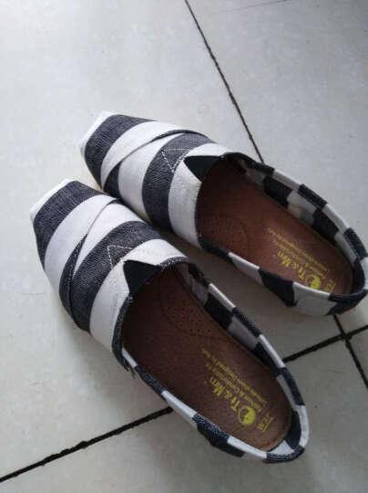 Tt&Mm/汤姆斯帆布鞋2019新款时尚女鞋厚底增高松糕鞋子休闲透气学生平底单鞋女 玫红(TM737332W) 35 晒单图