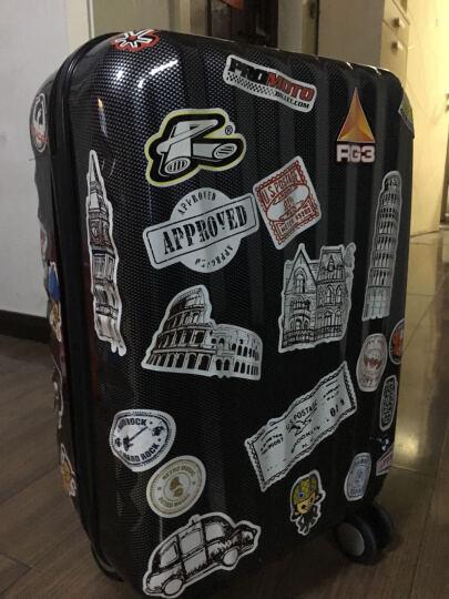 行李箱贴纸 拉杆箱 防水箱贴 手机不留胶PVC万用卡通 贴纸 超大A3五张 晒单图