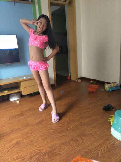 舒默(SHUMO) 舒默 新款儿童泳衣女童泳装可爱小中大童分体裙式女孩游泳衣 粉色泳帽五件套 2XL(建议身高120-130CM) 晒单图