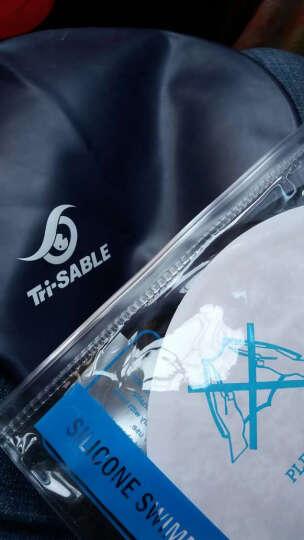 黑貂(SABLE)游泳泳帽 硅胶防水泳帽 柔软舒适 单色泳帽SCS-C31深蓝 晒单图