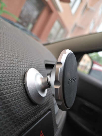 卡雯乐 磁性车载手机支架 多功能汽车手机架 手机座磁铁通用创意支架 粘贴式 绚丽银 晒单图