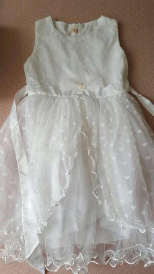 圣笑 童装女童夏装新款公主裙子2018新款中大儿童连衣裙长裙子演出表演服 爱心公主裙白色 140 晒单图