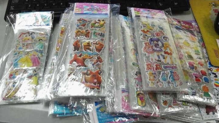 满庄韩版幼儿童卡通贴纸 立体奖励贴画粘贴泡泡贴粘纸 数字 字母 形状 动物 C23 晒单图