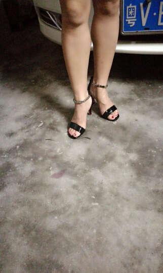 丹芭莎女鞋2017秋季新款鱼嘴高跟鞋细跟一字扣单鞋韩版百搭凉鞋 ML6X228白色 36 晒单图